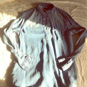 Primark Dresses & Skirts - Primark Chambray Denim Long Sleeve Loose Fit Dress