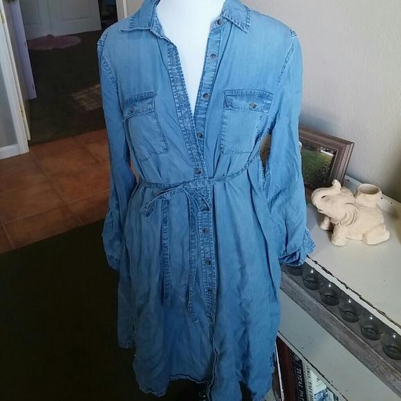 43d01597ef045 Liz Lange for Target Dresses | New Liz Lange Maternity Denim Shirt ...