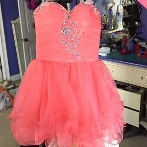 Short homecoming or prom dress