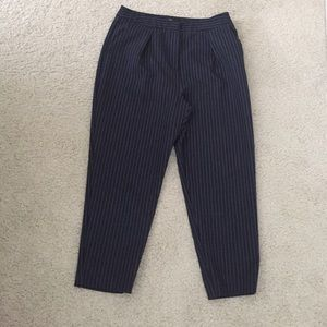 Topshop Petite Ankle Striped Pants