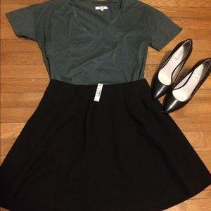 Madewell black A-line skirt