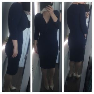 Navy blue ASOS Midi dress