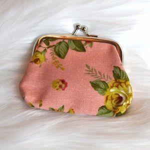 Handbags - Pink Floral Coin Purse