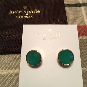 Kate spade green gem earrings