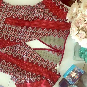 aniina Pants - 🌺 Red Silky Romper 🌺