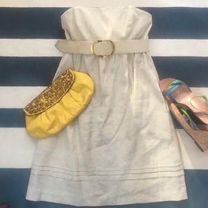 Shoshanna Dresses & Skirts - Shoshanna Metallic Linen Size 8