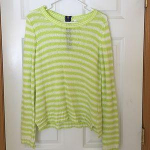 Aeropostale Sweaters - Aeropostale green and white sweater