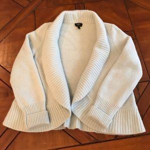 LADIES | Pale Blue Pure Cashmere Open-front Cardi