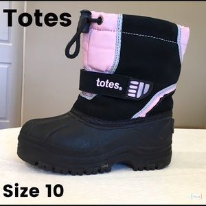 Totes Other - Totes Girls Toddler Snow Winter Boots Size 10