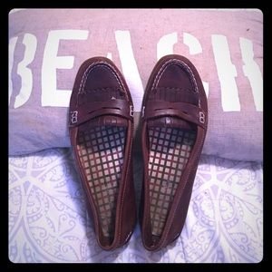 Sperry Top-Sider Shoes - Women's Sperry Penny Loafers - Brown - size 9.5