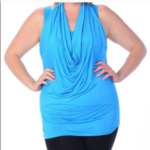 Beautiful blue  sleeveless top