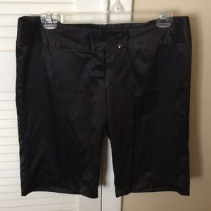 Pants - Black silky Bermudas