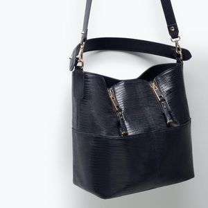 Zara Blue Bucket Bag