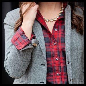SOLD ❤ j. crew // gray tweed 100% wool blazer