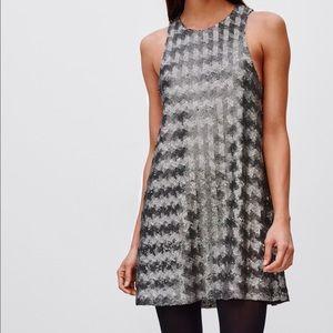 Aritzia Talula Canterbury silver Sequin Dress. NEW