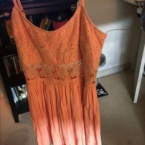 Peach boutique brand sundress