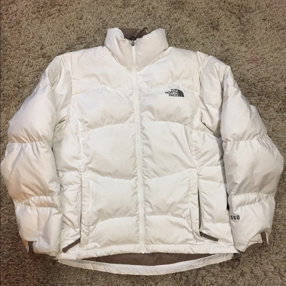 d1b4b6f16 The North Face 550 - Down Puffer Coat - White - M