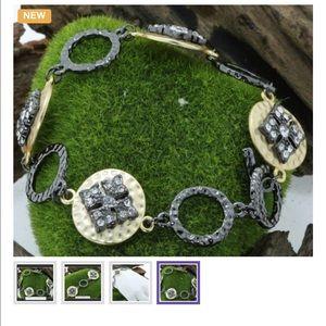 Jewelry - 18K Gold & Rhodium Over Sterling Silver Bracelet