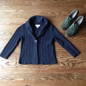 Loft XXSP One Button Cable Cardigan