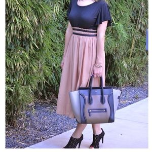 Goodnight Macaroon Dresses & Skirts - 🎉HP🎉 Black and Tan dress