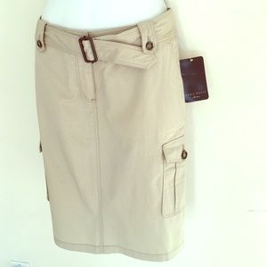 New Zara safari cargo skirt