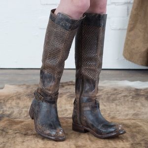 Bed Stu Shoes - NWT Bed Stu Perforated Distressed Boots