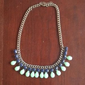 NEW adjustable metal and beaded necklace