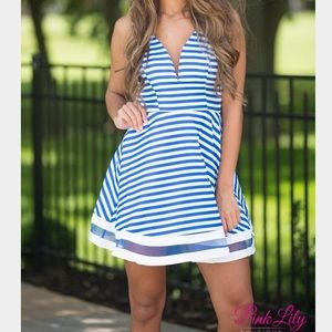 Tea n Cup Dresses & Skirts - Striped Blue Party Dress