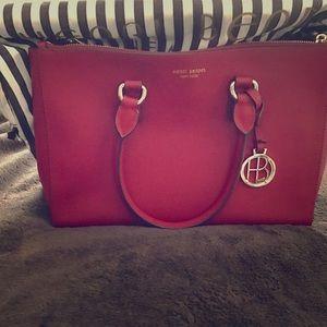 henri bendel Handbags - beautiful, never used Red Henri Bendel bag.