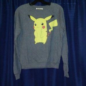 Pokemon Tops - Pokemon Medium Pikachu Sweatshirt EUC