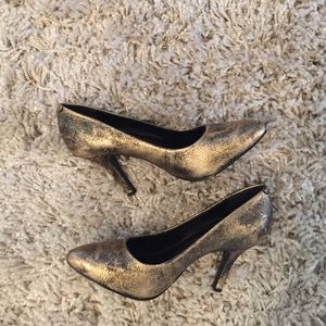 Shoes - Jessica Simpson muted gold heels