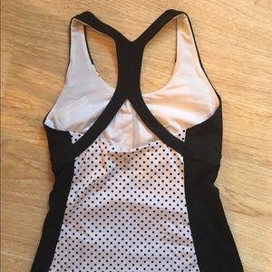 lululemon athletica Tops - Black and White Polka Dot lululemon Tank Top