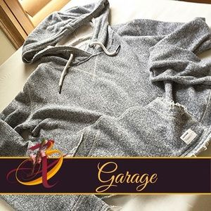 Garage Tops - Gray Cropped Hoodie