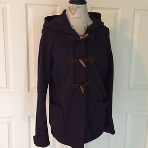 Lands End Canvas Jackets & Blazers - Lands End Canvas Fleece Toggle Coat