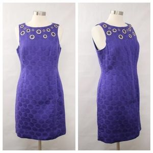 Taylor Dresses Dresses & Skirts - Taylor Dresses Purple Polka Dot Shift Dress