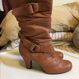 Bakers Shoes - Bakers tan scrunch boots