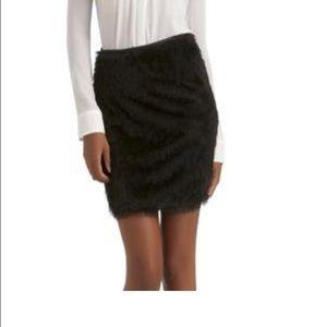 Dresses & Skirts - Fringed black fur skirt