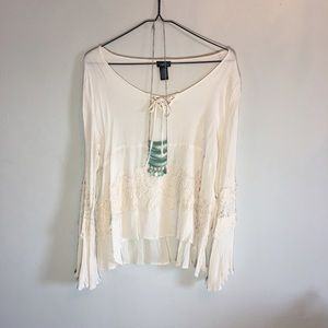 Rue21 Tops - Boho Shirt with bell sleeves