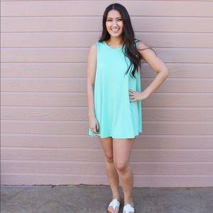 Boutique Dresses & Skirts - Mint T-shirt dress/beach cover up