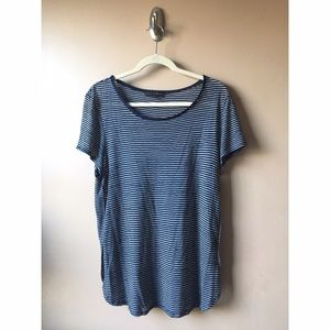 Sanctuary Tops - Blue and White Striped Tee