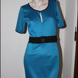 Dresses & Skirts - Contrast blue trim dress