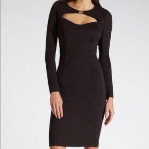 Dresses & Skirts - Black bodycon feat dress m