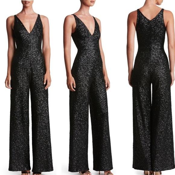f4561f97a59 Dress the Population Pants - Dress the Population Charlie Sequin Jumpsuit