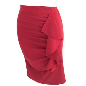 Italian ruffle ruched skirt