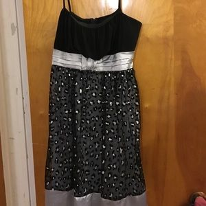 Taboo Dresses & Skirts - Black and silver semi formal dress