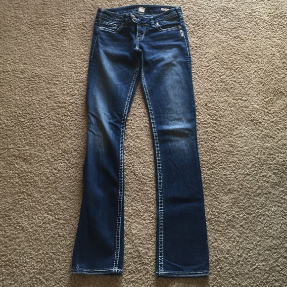 Silver Jeans - Silver Tuesday made into straight legged jeans from ...