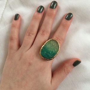 Jewelry - Blue & Green Druzy Ring