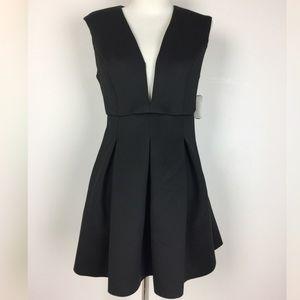 NWT Low Cut Backless Scuba Dress in Black
