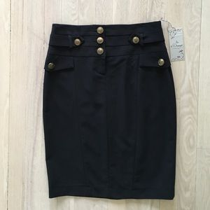 French Navy pencil skirt