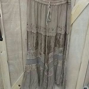 Scully Dresses & Skirts - Beautiful tan very detailed long skirt